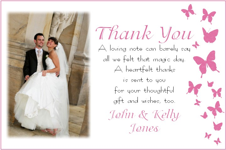 How To Write Wedding Gift Message : Handwritten Thank You Notes
