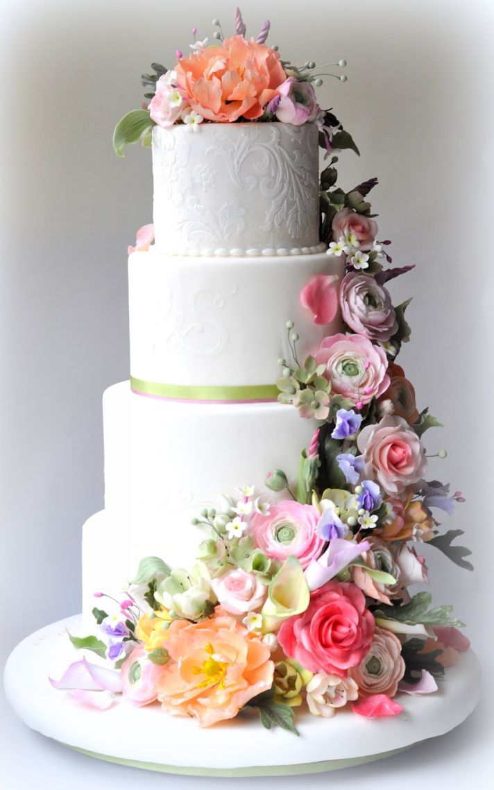 Fresh Flowers on Wedding Cake Archives - Mother of the Bride