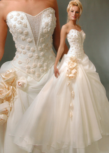White Corset Pretty Wedding Dresses