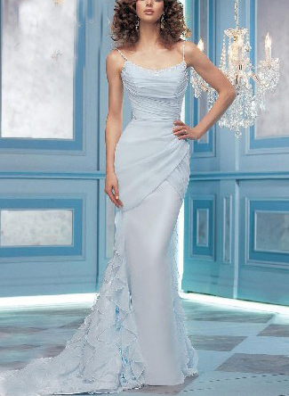 Baby Blue Wedding Dress  Second Marriage