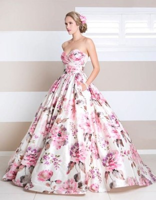 Printed Wedding Dresses - Would you wear one?