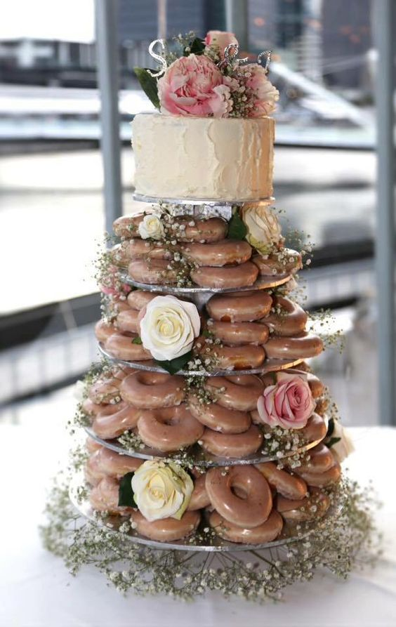 The Donut Wedding Cake Mother of the Bride