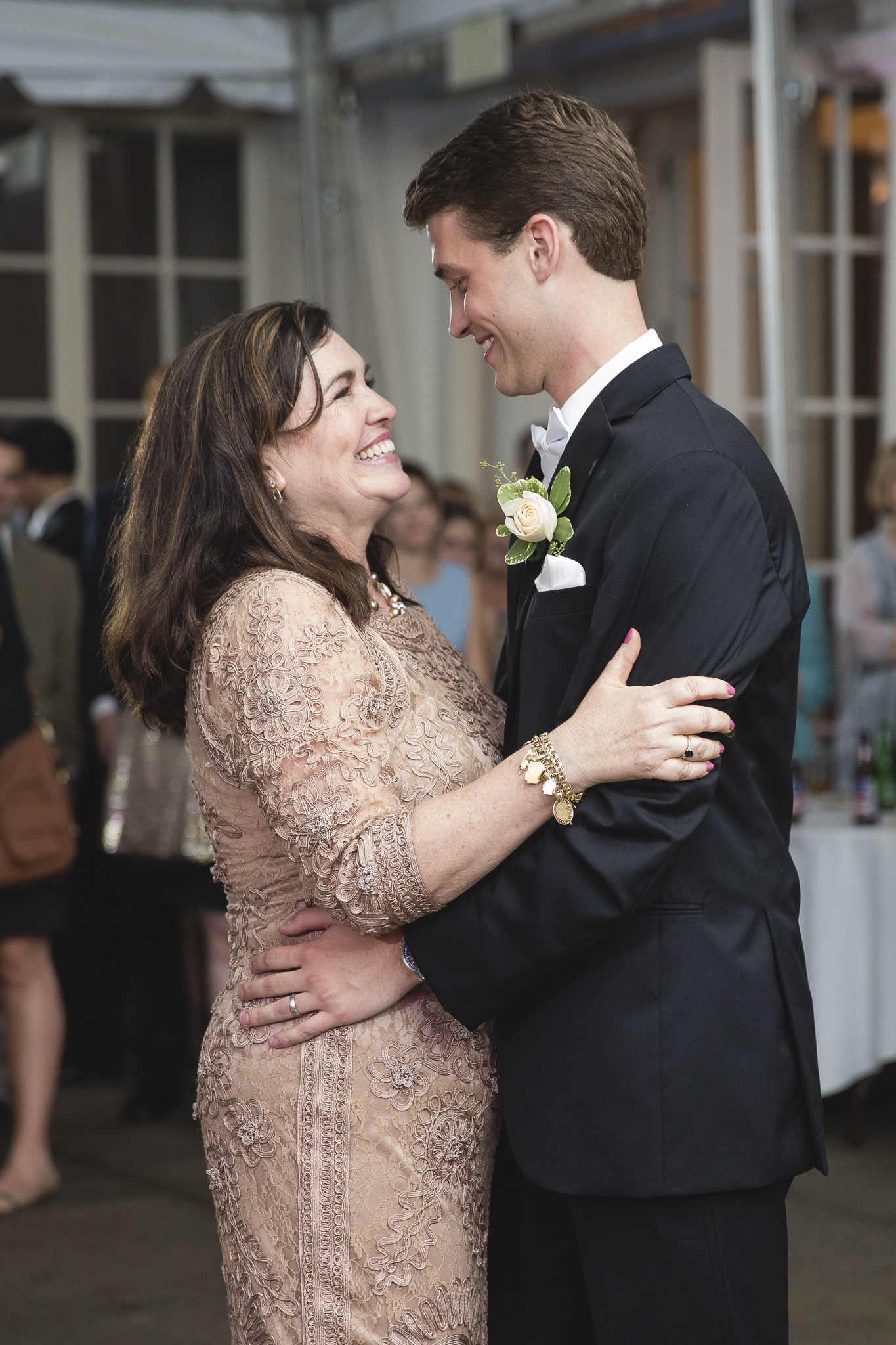 The Next Captures A Lovely Moment During Mother Son Dance Debbie Of Groom Looks Just Beautiful And So Hy